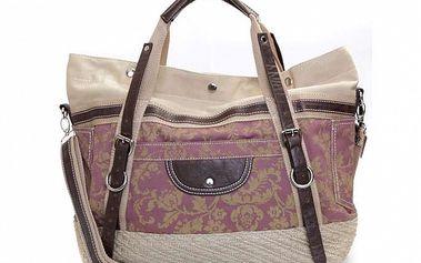 Dámska fialová kabelka s popruhmi Sandalo