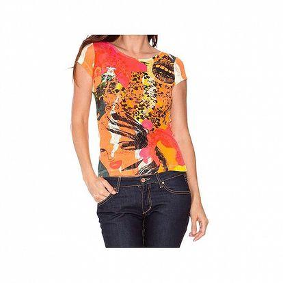 Dámske oranžové tričko Sandalo s potlačou