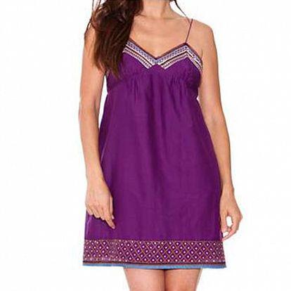 Dámské fialové hedvábné šaty Sandalo