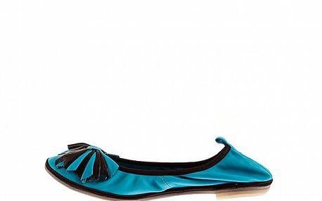 Dámské tyrkysové baleríny Sandalo s elastickým lemem