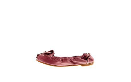 Dámske ružové kožené balerínky Sandalo
