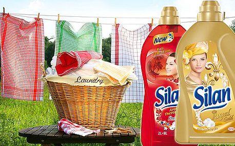 Luxusní aviváž Silan - dvoulitrové balení. Hebké a voňavé prádlo po každém praní. Silan ochrání vlákna i Vaši citlivou pokožku.