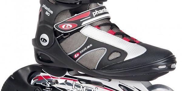 Sportovní kolečkové brusle Botas Phantom 80 černá/červená/stříbrná 45 - II. jakost