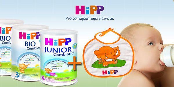 Mléčná kojenecké bio výživa Hipp + bryndák