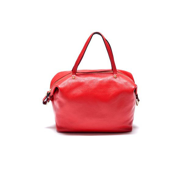 Dámska červená kožená kabelka Roberta Minelli