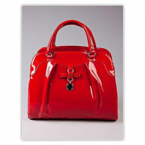Dámská červená lakovaná kabelka s visačkou Ferré Milano