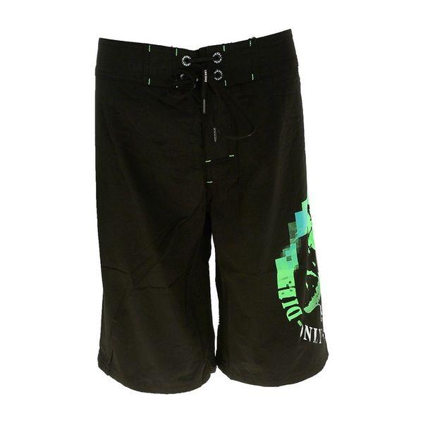 Pánské plavecké šortky DIESEL černo-zeleno-modré