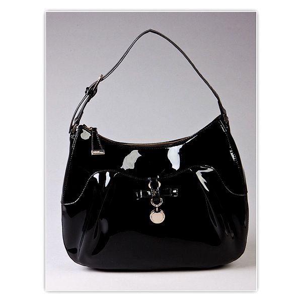 Dámská černá lakovaná kabelka s visačkou Ferré Milano