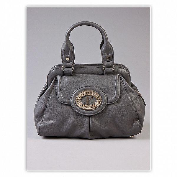 Dámská šedivá kabelka Ferré Milano s kovovým logem