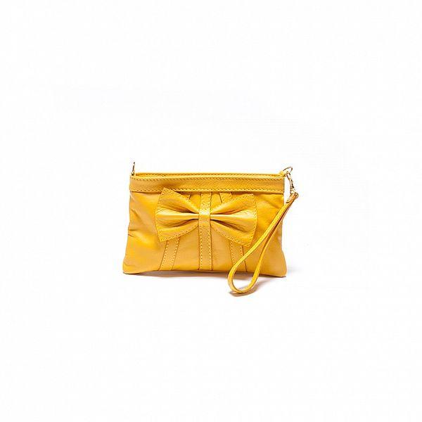 Dámska žltá kabelka Roberta Minelli s mašľou