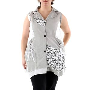 Šedo-bílé šaty Lucy