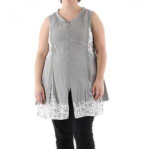 Šedo-bílé šaty Ala