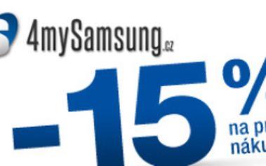 15% sleva na první nákup příslušenství k telefonům, tabletům a notebookům Samsung