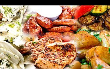 MEGA porce o 3 CHODECH pro 2 s 50% slevou, v sicilské restauraci OSTERIA ALGIRO v Praze nedaleko centra. Vychutnejte si fenyklový salát s pomerančem (2x 250 g), kuřecí prsa v chilli na messinský způsob (2x 400 g) + grilovanou zeleninu, bylinkové brambory a ovocný sorbet. V ceně pro každého i voda.