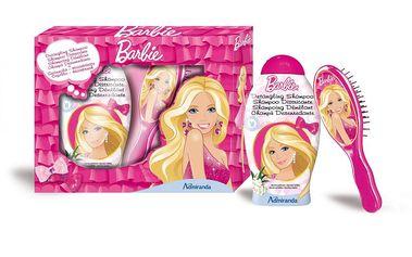 Dětská kosmetická sada Barbie obsahuje Šampón 250ml a 2D hřeben.