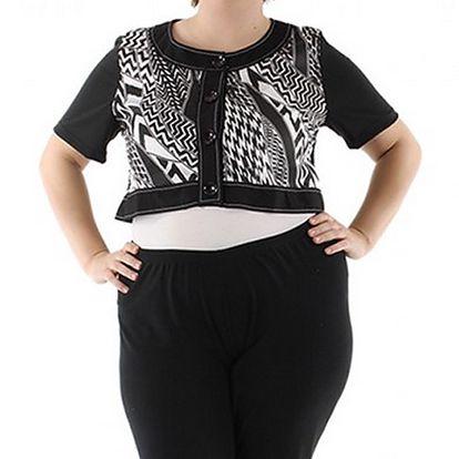Lehký černo-bílý svetr