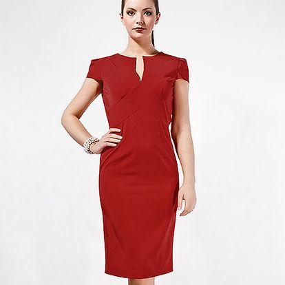 Červené pouzdrové šaty Tagilla
