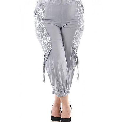 Šedo-bílé kalhoty Rozi