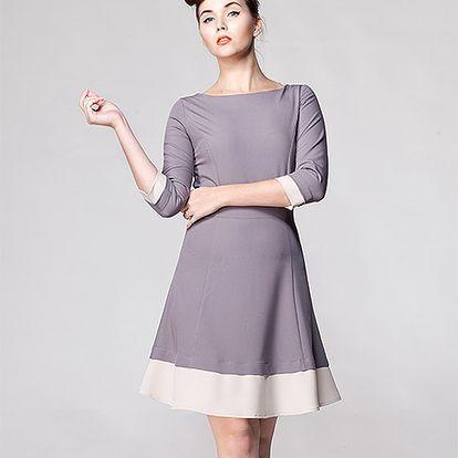 Šedé šaty Jazz
