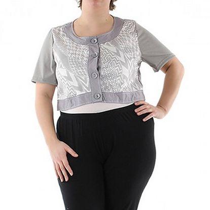 Lehký šedo-bílý svetr