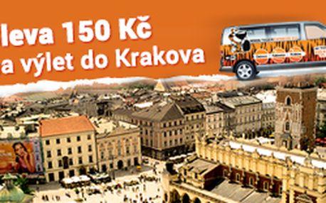 Sleva 150 Kč na zpáteční jízdenku na výlet do Krakova během víkendu