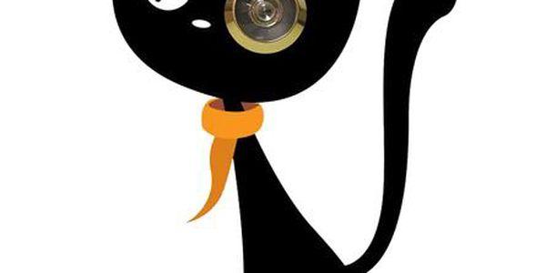 Samolepka Kočka - můžete nalepit jak z přední nebo zadní strany.