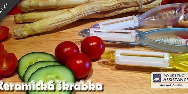 Keramická škrabka + dárek zdarma - ještě nikdy jste neškrábali ovoce nebo zeleninu s takovou radostí. S touto keramickou škrabkou vám to v kuchyni půjde jako po másle