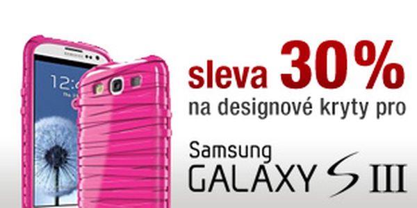 Sleva 30% na všechny kryty a pouzdra pro telefon Samsung Galaxy S3