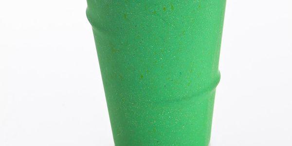 Sklenice 350 ml, zelená vyrobené z 80% z prášku bambusových vláken.