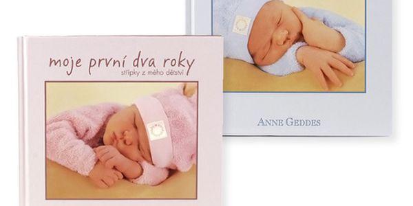 Knihy Anne Geddes - krásná publikace pro vaše děťátka, do které zapíšete vše důležité z jejich života.