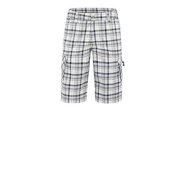 Pánské krémovo-šedé kostkované kalhoty Meier