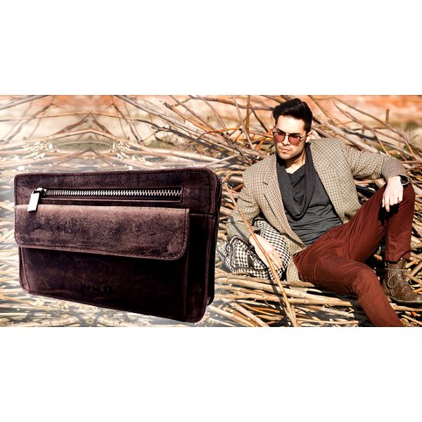 Pánská kožená taška – etue