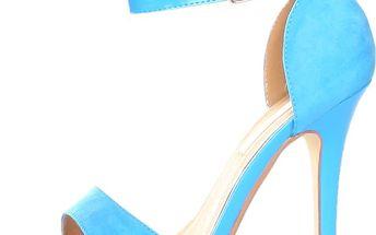 Světle modré sandály s jehlovým podpatkem Ana Lublin