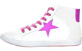 Dámské bílé tenisky s růžovou hvězdou Ana Lublin