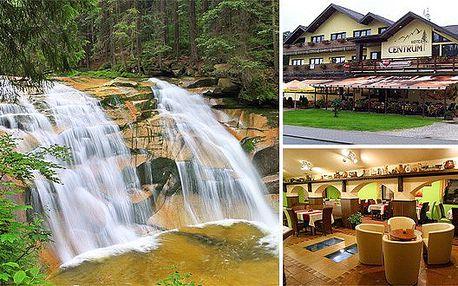 Pobyt v hotelu Centrum v Harrachově. Letní dovolená v Krkonoších s wellness programem. Relaxujte v krásné přírodě.