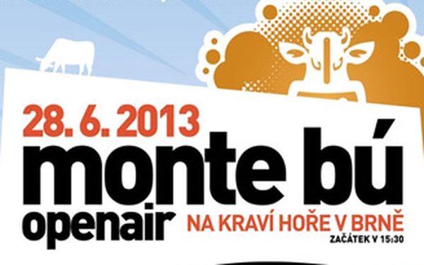 Vstupenka a dvě piva na brněnský hudební festival Monte Bú Openair.