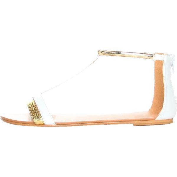 Dámské bílo-zlaté sandálky Ana Lublin