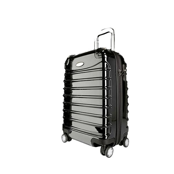 Cestovní kufr s otočnými kolečky Lightweigt ExLuggage Palubní zavazadlo - černé
