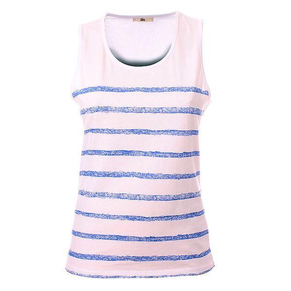 Dámské modro-bílé pruhované tričko TBS
