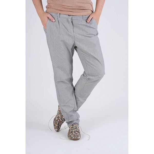 Dámske šedé prúžkované nohavice Pepe Jeans