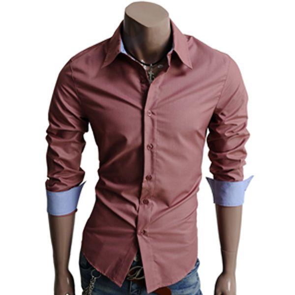 Pánská košile Doublju tmavě růžová