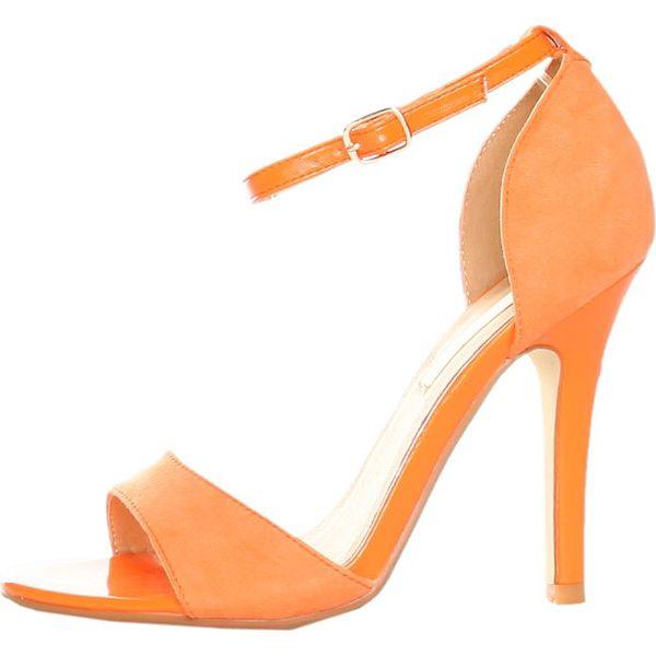 Oranžové sandálky s ihlovým podpätkom Ana Lublin