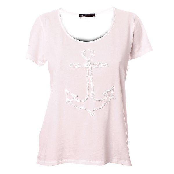 Dámské bílé triko s kotvou TBS