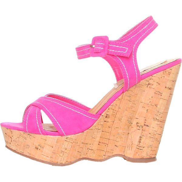 Dámské sytě růžové sandálky na platformě Ana Lublin