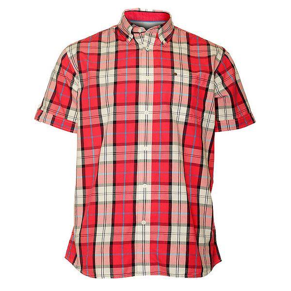 Pánska červená kockovaná košeľa TBS