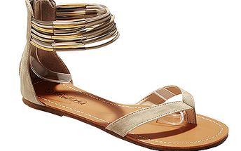 Sandály elegantní béžové