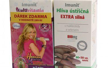 Simply you Hlíva ústřičná Extra Imunit 90 + 30 tob + Disney vitamín Zdarma