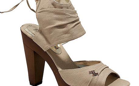 Vysoké sandály béžové