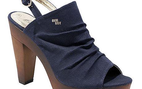 Vysoké sandály s volnou špičkou modré