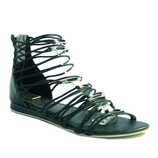 Sandály gladiátorky černé
